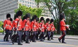 加拿大更改的卫兵渥太华 库存图片