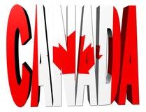 加拿大标志文本 库存照片