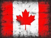 加拿大标志老被绘的墙壁 向量例证