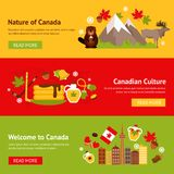 加拿大横幅集合 免版税库存照片