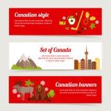 加拿大横幅集合 免版税图库摄影