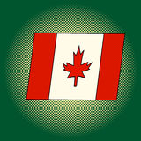 加拿大流行艺术传染媒介例证旗子  库存照片