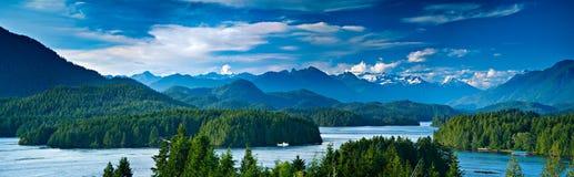 加拿大海岛全景tofino温哥华视图 免版税库存照片