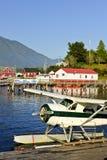 加拿大海岛飞机海运tofino温哥华 免版税库存图片