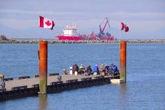 加拿大消遣渔夫 库存照片