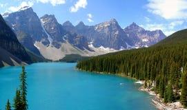 加拿大湖冰碛 免版税图库摄影