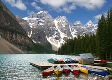 加拿大湖冰碛 库存照片