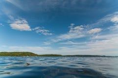 加拿大湖在夏天 库存照片