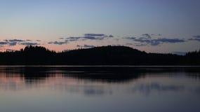 加拿大湖 库存图片