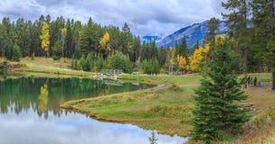 加拿大湖 库存照片