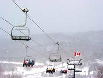 加拿大滑雪 免版税库存图片