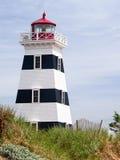加拿大灯塔西方pei的点 库存图片