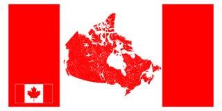 加拿大的地图有河和湖的 免版税图库摄影