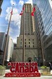 150加拿大的庆祝的红色标志 库存照片