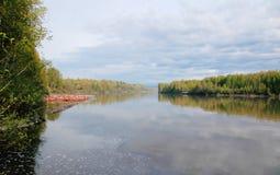 加拿大的弗拉塞尔河 库存照片