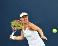 加拿大的Proffessional女性网球员打开 免版税图库摄影