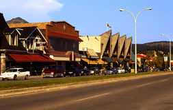 加拿大碧玉城镇 库存图片