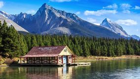 加拿大碧玉湖maligne国家公园 影视素材