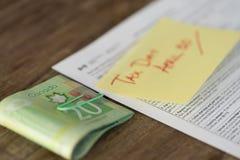 加拿大税天从与现金退款的4月30日税 库存照片