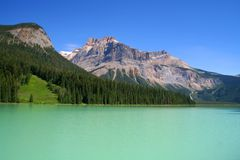 加拿大绿宝石湖 库存图片