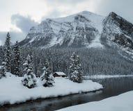 加拿大自然-路易丝湖 免版税库存照片