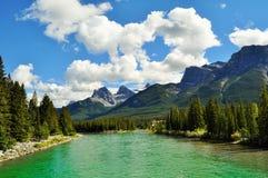 加拿大自然- Canmore,亚伯大 免版税库存照片