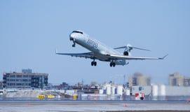 加拿大航空快速飞机起飞 免版税库存图片