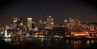 加拿大蒙特利尔晚上地平线 免版税图库摄影