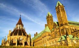 加拿大议会图书馆在渥太华,加拿大 库存图片