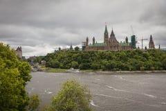 加拿大议会在渥太华市 库存图片