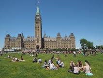 加拿大议会大厦 免版税库存照片