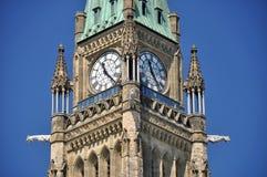 加拿大议会的和平塔 免版税库存图片