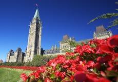 加拿大议会,渥太华 库存图片