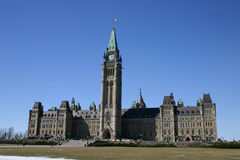 加拿大议会s 免版税库存图片