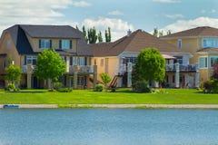 加拿大豪华房子在马尼托巴 库存照片