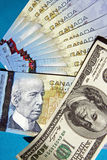 加拿大货币美国 库存照片