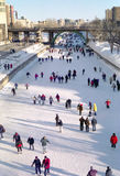 加拿大运河安大略渥太华rideau滑冰 图库摄影