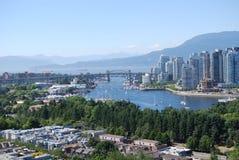 加拿大都市风景温哥华 免版税库存图片