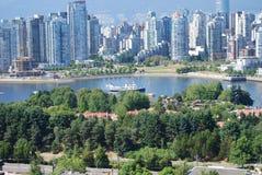 加拿大都市风景温哥华 库存图片