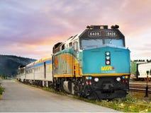 加拿大铁路运输培训通过 库存照片
