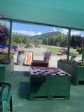 加拿大镇果子商店,平静地美丽的景色 库存图片