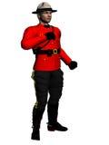 加拿大骑警队员 免版税图库摄影