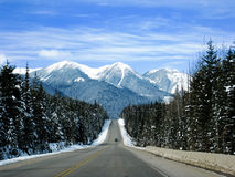 加拿大高速公路trans 库存图片