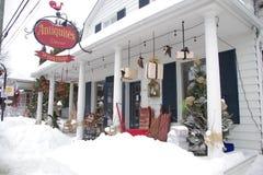加拿大,在魁北克古董店省的一个村庄  免版税库存图片