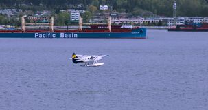 加拿大,温哥华,港口城市,北美洲的运输插孔 股票视频