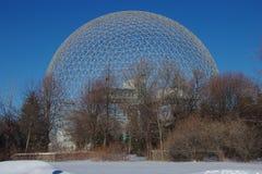 加拿大,蒙特利尔生物圈的网格球顶 免版税库存照片