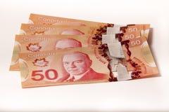 加拿大货币 免版税库存照片