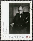加拿大- 2008年:展示温斯顿Spencer丘吉尔1874-1965,政客先生 图库摄影