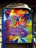 加拿大150庆祝袋子的班夫 库存图片