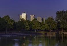 加拿大水,都市风景伦敦英国 库存图片